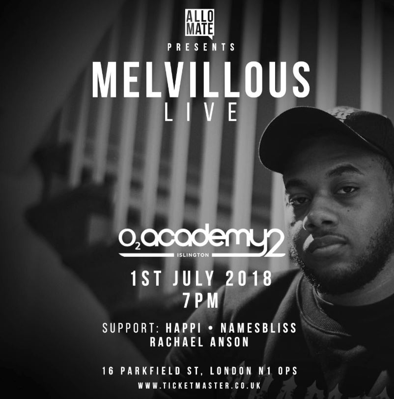 Melvillous announces pre-order for new EP and debut headline show with tickets available!